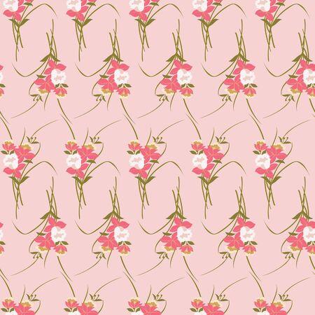 Japanese Bouquet Vector Seamless Pattern 向量圖像