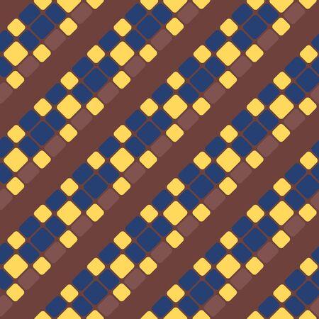 Japanese Square Mosaic Vector Seamless Pattern