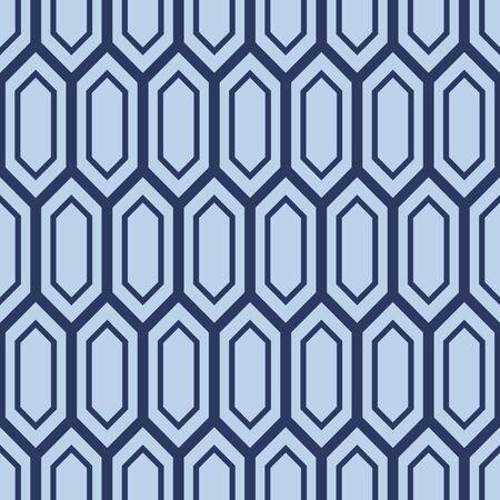 Japanese Hexagon Vector Seamless Pattern