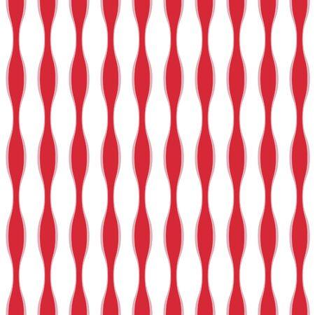 Japanese Loop Stripe Vector Seamless Pattern