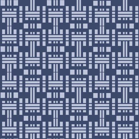 Japanese Tribal Rectangle Vector Seamless Pattern