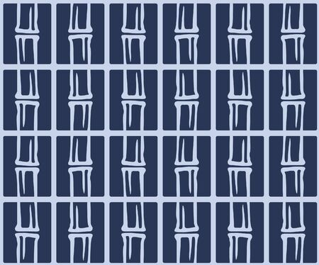 Japanese Bamboo Tile Vector Seamless Pattern