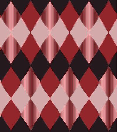 Japanese Diamond Plaid Vector Seamless Pattern 向量圖像
