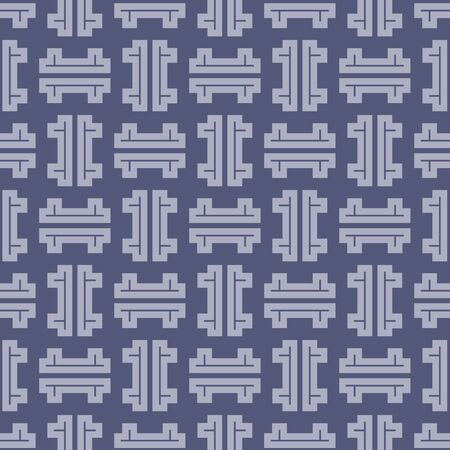 Japanese Geometric Maze Vector Seamless Pattern