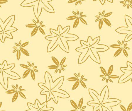 Japanese Maple Leaf Vector Seamless Pattern 向量圖像