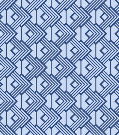 Japanese Square Diamond Vector Seamless Pattern 向量圖像
