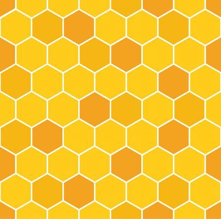 Japanese Yellow Honeycomb Vector Seamless Pattern