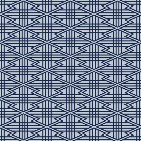 Japanese Zigzag Diamond Vector Seamless Pattern