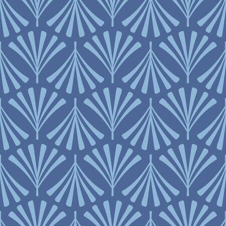 Japanese Leaf Fan Vector Seamless Pattern 向量圖像
