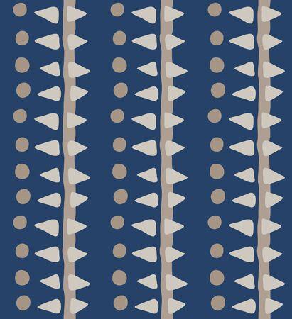 Japanese Tribal Stripe Vector Seamless Pattern