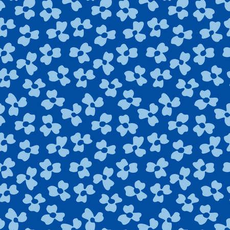 Japanese Cute Petal Vector Seamless Pattern Illustration
