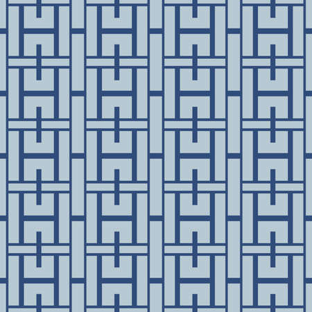 Japanese Weaving Square Vector Seamless Pattern