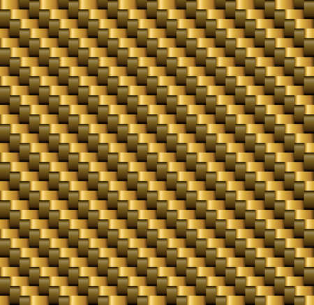 Gold and Brown   Carbon Fiber Vector Seamless Pattern Stock Illustratie