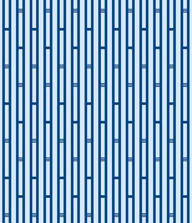Japanese Geometric Bamboo Stripe Vector Seamless Pattern
