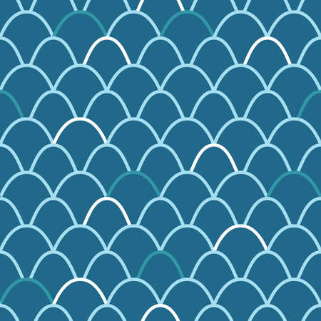 Japanese Fish Scale Vector Seamless Pattern