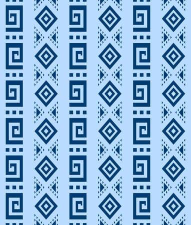 Japanese Tribal Art Vector Seamless Pattern 向量圖像