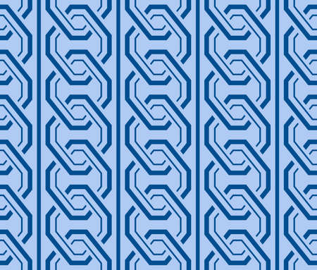 Japanese Geometric Chain Vector Seamless Pattern Illusztráció