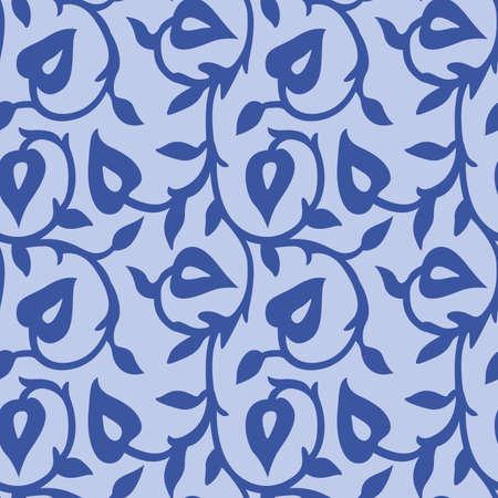 Japanese Leaf Ivy Vector Seamless Pattern Illusztráció