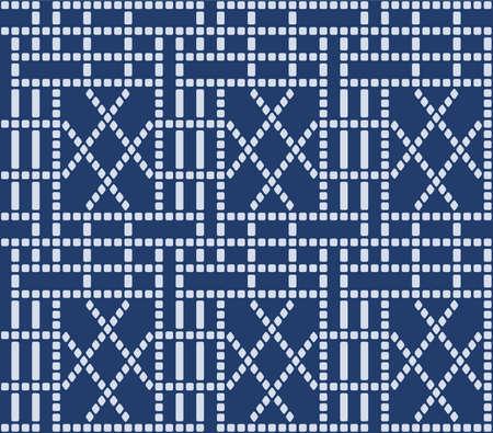 Japanese Dot Grid Line Vector Seamless Pattern Vector Illustratie