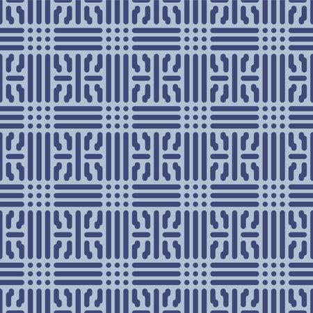 Japanese Tribal Weave Vector Seamless Pattern