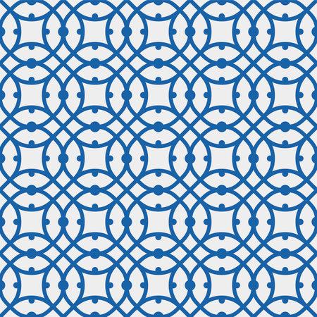 Japanese Overlap Curve Diamond Vector Seamless Pattern