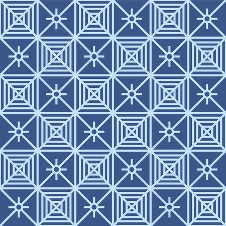 Japanese Square Net Vector Seamless Pattern