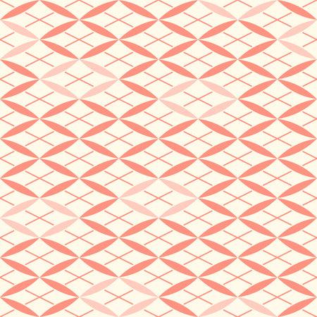 Japanese Petal Diamond Vector Seamless Pattern Illusztráció