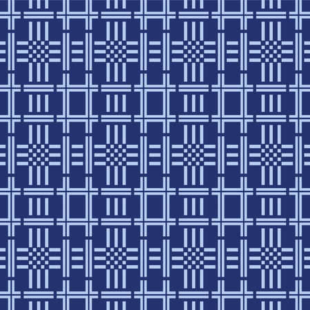 Japanese Luxury Weave Vector Seamless Pattern