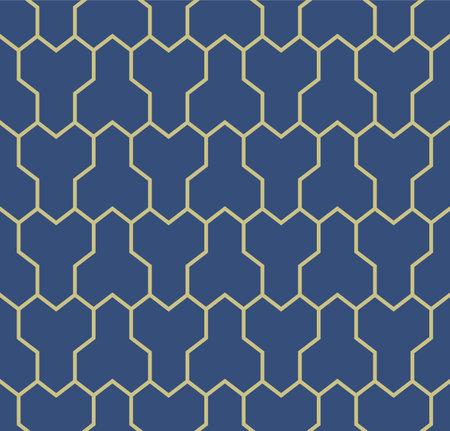 Japanese Geometric Shell Vector Seamless Pattern