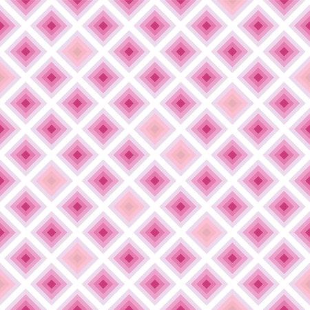 Japanese Pink Diamond Square Vector Seamless Pattern Illusztráció