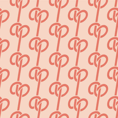 Japanese Rope Knot Vector Seamless Pattern