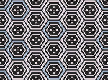 Japanese Classic Hexagon Vector Seamless Pattern