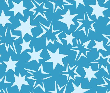 Japanese Sparkling Star Vector Seamless Pattern Illusztráció