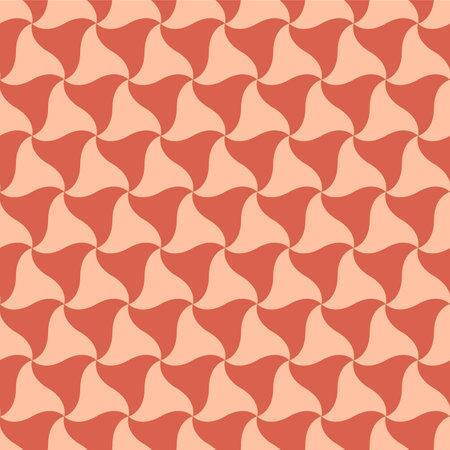 Japanese Swirl Triangle Vector Seamless Pattern