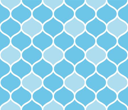 Japanese Bohemian Curve Zigzag Vector Seamless Pattern