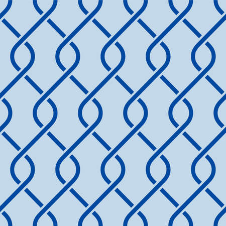 Japanese Zigzag Cross Line Vector Seamless Pattern
