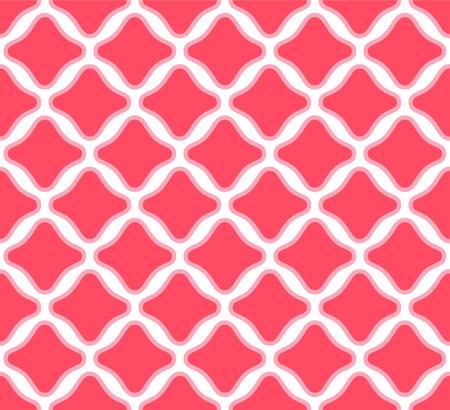 Japanese Curve Diamond Vector Seamless Pattern Illusztráció