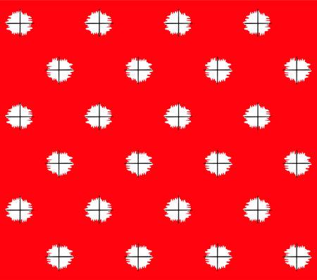 Japanese Fluffy Polka Dot Vector Seamless Pattern