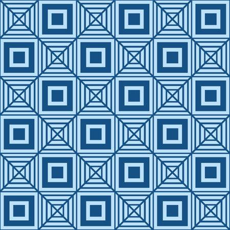 Japanese Square Diamond Vector Seamless Pattern Illusztráció