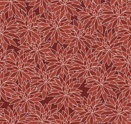 Japanese Overlap Flower Vector Seamless Pattern