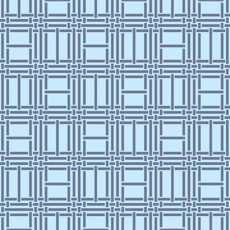 Japanese Blue Weave Vector Seamless Pattern