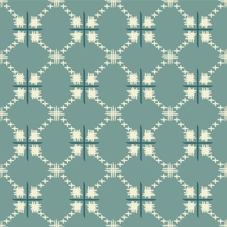 Japanese Tribal Diamond Square Vector Seamless Pattern Illusztráció