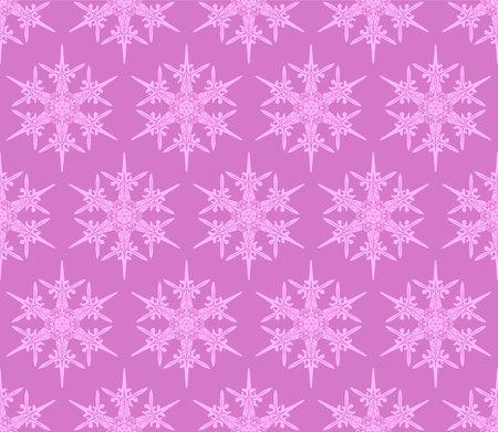 Japanese Pink Snowflake Vector Seamless Pattern