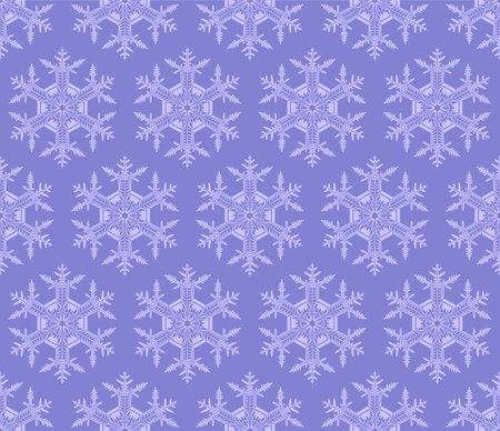Japanese Purple Snowflake Vector Seamless Pattern
