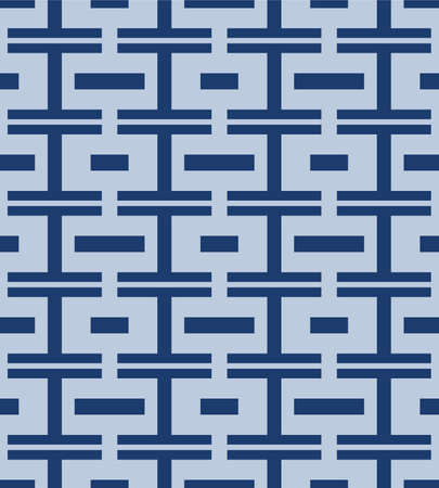 Japanese Weave Brick Vector Seamless Pattern  イラスト・ベクター素材
