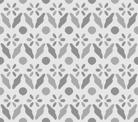 Japanese Flower Motif Vector Seamless Pattern Illusztráció