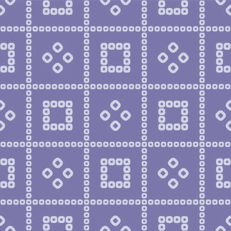 Japanese Square Line Vector Seamless Pattern