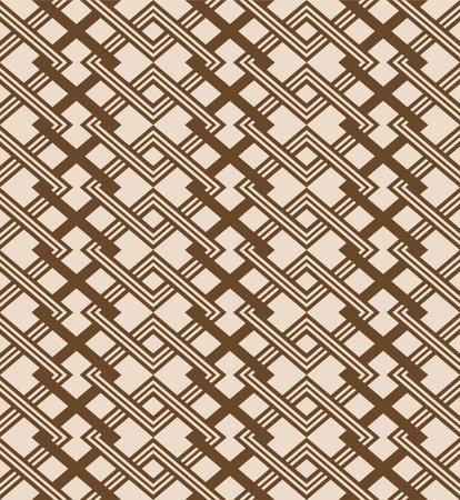 Japanese Overlap Diamond Vector Seamless Pattern