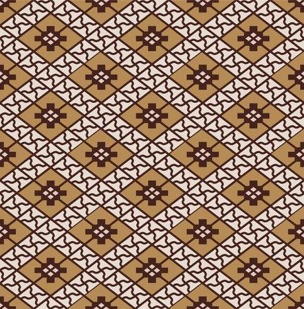 Japanese Luxury Diamond Mosaic Vector Seamless Pattern