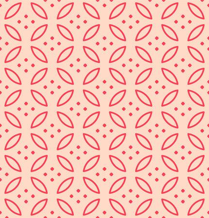 Japanese Red Petal Vector Seamless Pattern Illusztráció